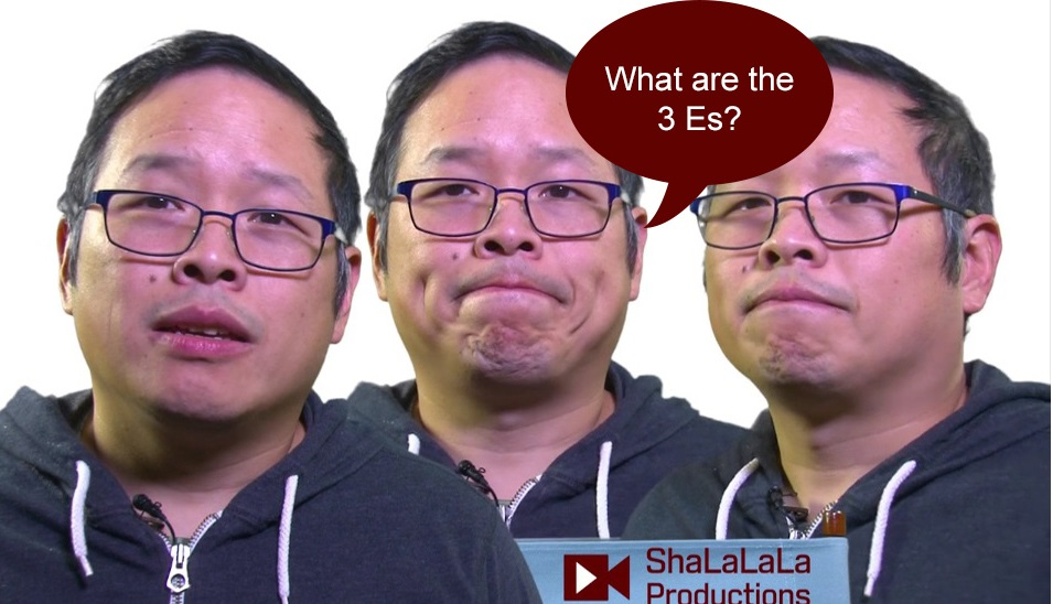 What are the 3 Es?